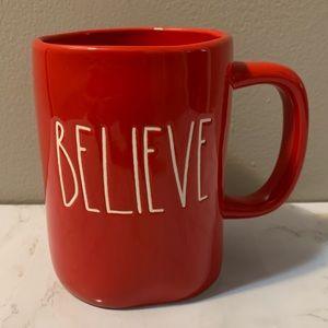 Rae Dunn Red Believe Mug
